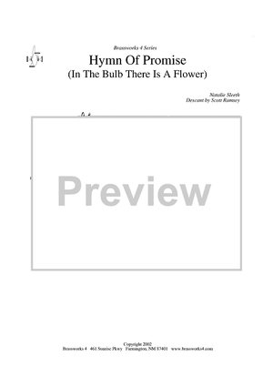 Hymn of Promise (in the Bulb There is a Flower) - Cornet 2 in B-flat - Cornet 2/Trumpet 2