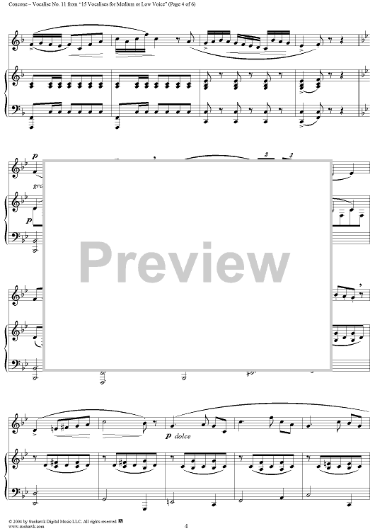 15 Vocalises for Medium or Low Voice, Op. 12: No. 6