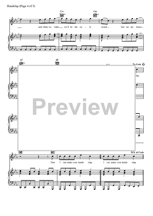 Buy Handclap Sheet Music By Fitz And The Tantrums For Piano Vocal Chords Make sure to come back every day so you don't miss out on any videos and learn a new song daily! handclap