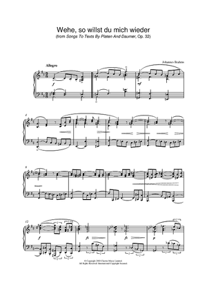 Wehe, so willst du mich wieder (from Songs To Texts By Platen And Daumer, Op. 32)