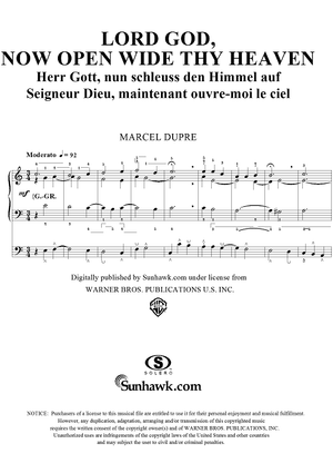 "Lord God, Now Open Wide Thy Heaven, from ""Seventy-Nine Chorales"", Op. 28, No. 31"