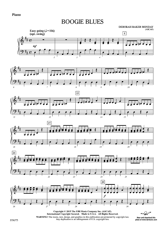 Boogie Blues - Piano