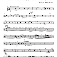 Minuet and Dance of the Blessed Spirits - from Orpheus - Part 3 Horn or English Horn in F