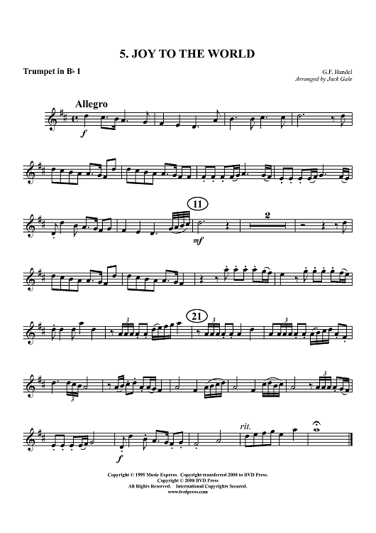 Christmas Trumpet Songs.Christmas Set 2 Trumpet 1