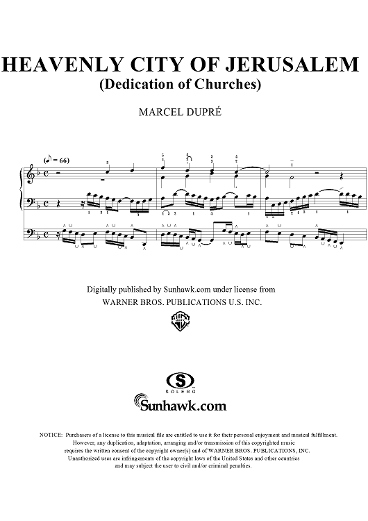 "Heavenly City of Jerusalem, from Sixteen Chorales ""Le Tombeau de Titelouze"", Op. 38, No. 6"