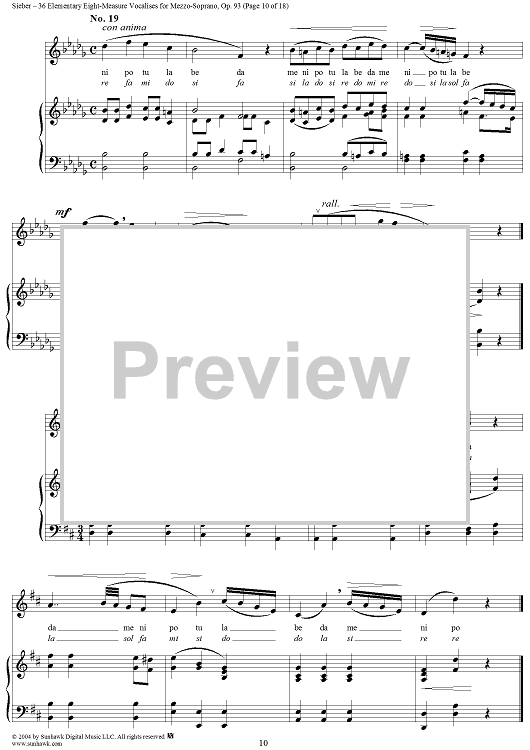 Thirty-Six Vocalises for Soprano: No. 27