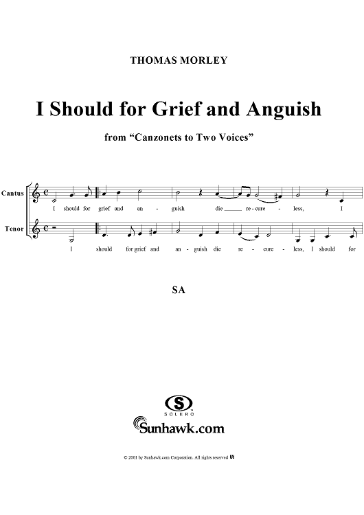 I Should for Grief and Anguish