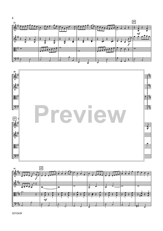 The Reel Collection for String Quartet - Score