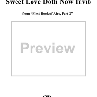 "Come again! Sweet love doth now invite - No. 17 from ""First Book of Airs, Part 2"""