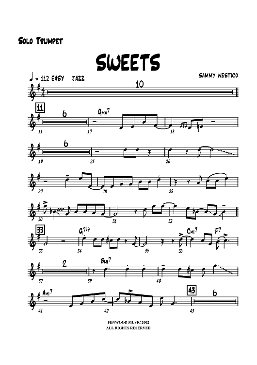 Sweets - Solo Trumpet