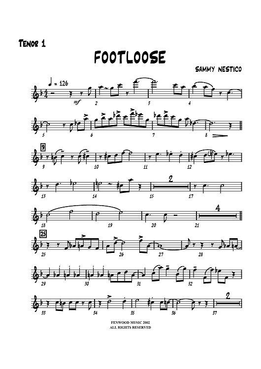 Footloose - Tenor Sax 1
