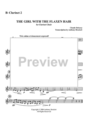 The Girl with the Flaxen Hair - B-flat Clarinet 2