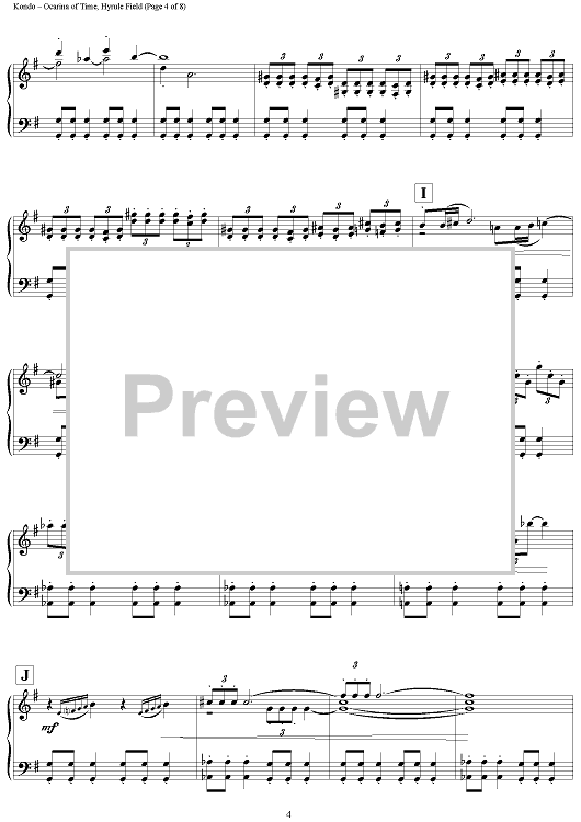 Buy The Legend Of Zelda Ocarina Of Time Hyrule Field Sheet Music For Piano Solo