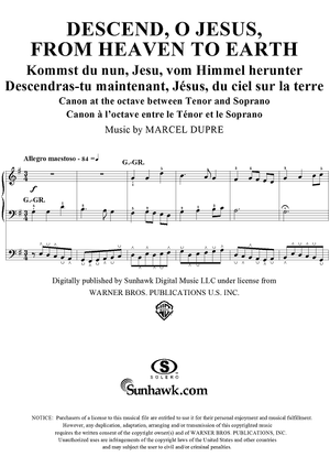 "Descend, O Jesus, From Heaven to Earth, from ""Seventy-Nine Chorales"", Op. 28, No. 48"