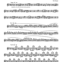 "Variations on ""Greensleeves"" For Unaccompanied Flute"
