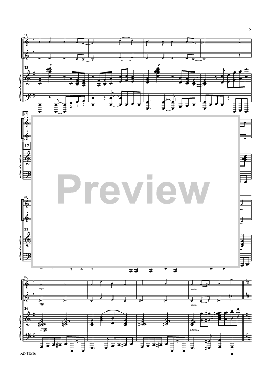 Hymns for Contemporary Worship for 2 Violins and Piano - Piano