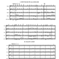Thanksgiving for Flutes - Score