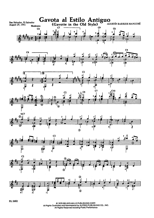 Gavota al Estilo Antiguo (Gavotte in the Old Style)