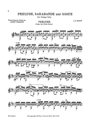 Prelude, Sarabande and Gigue for Guitar Solo