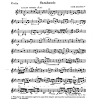 Sarabande - from English Suite No. 3, BWV 808