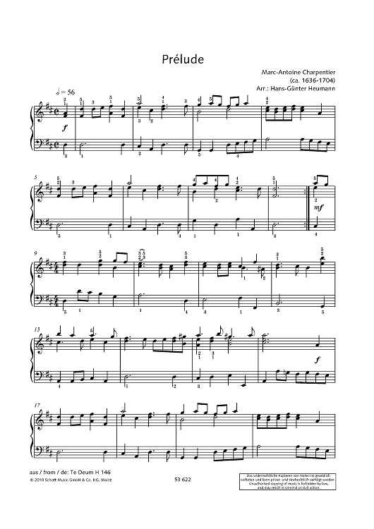 Prélude - from Te Deum, H 146