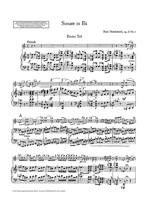 Sonata for Violin and Piano - Op. 11 No. 1