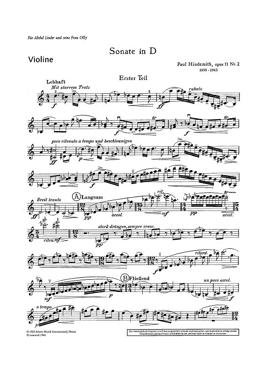 Sonata for Violin and Piano - Op. 11 No. 2