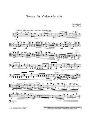 Sonata for Cello - Op. 25 No. 3