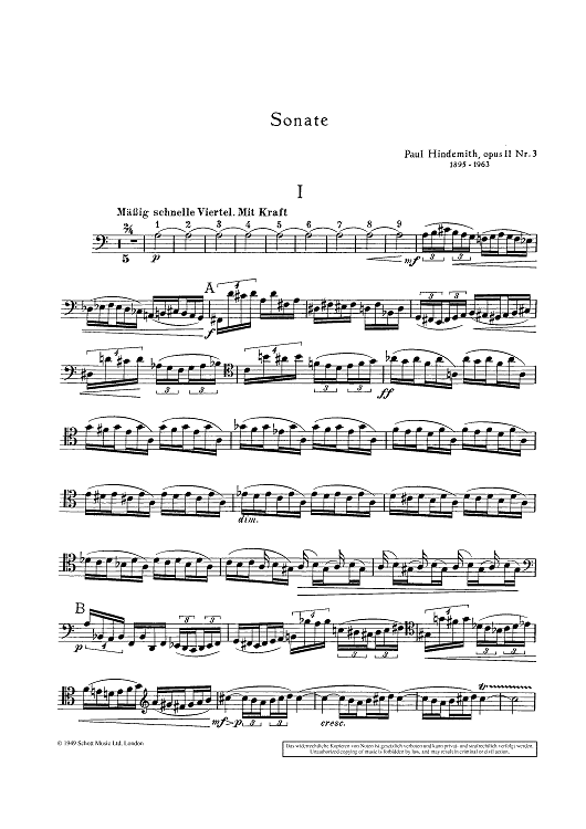 Sonata for Cello and Piano - Op. 11 No. 3