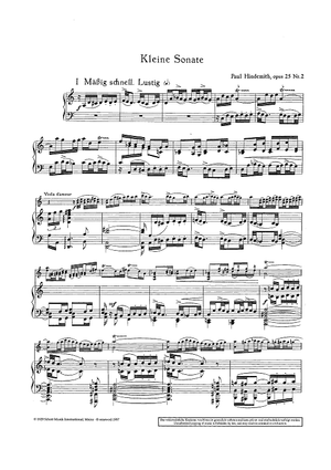 Little Sonata for Viola d'Amore and Piano - Op. 25 No. 2