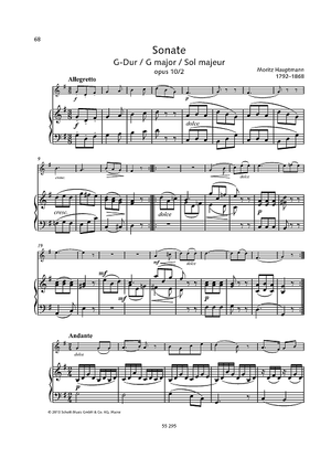 Sonata G major, Op. 10 No. 2