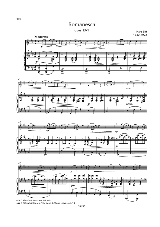 Romanesca, Op. 13 No. 1 - from 2 Album Leaves