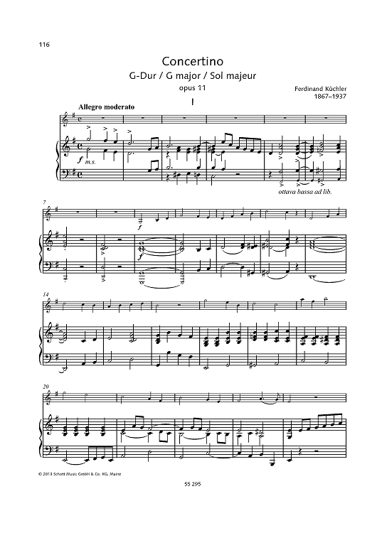 Concertino G major, Op. 11