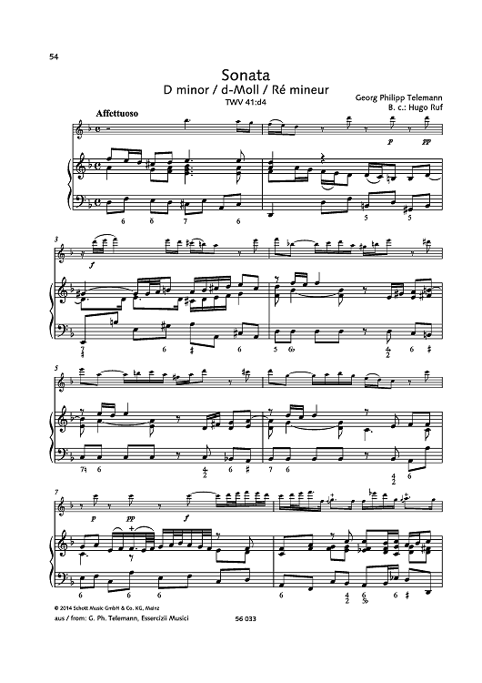 Sonata D minor, TWV 41:d4 | Sheet Music Now