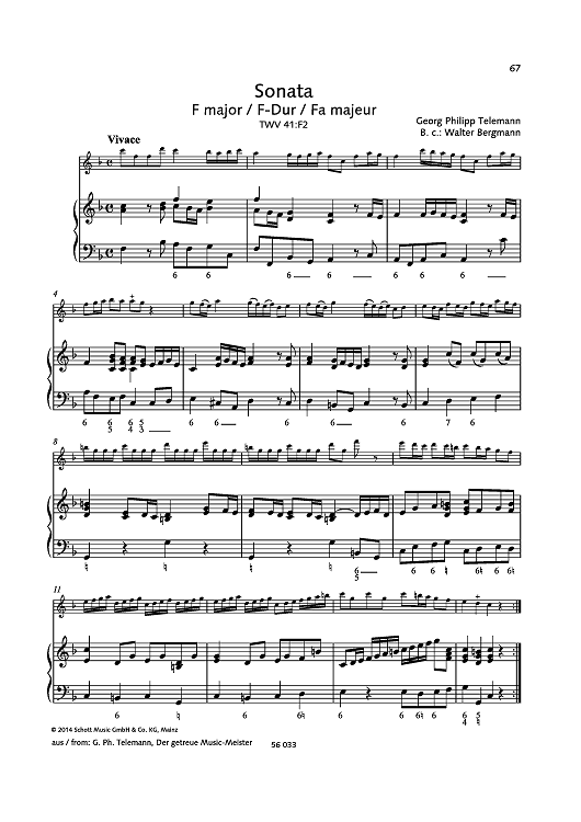 Sonata F major, TWV 41:F2