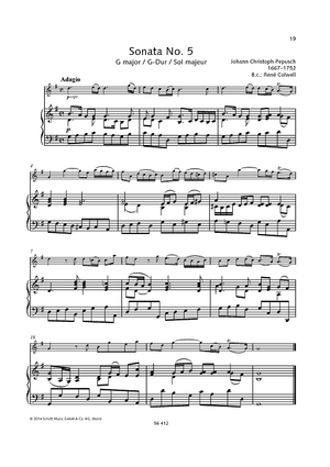 Sonata No. 5 G major