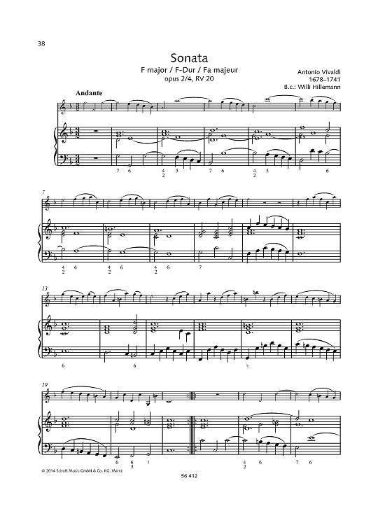 Sonata F major Op. 2, No. 4, RV 20