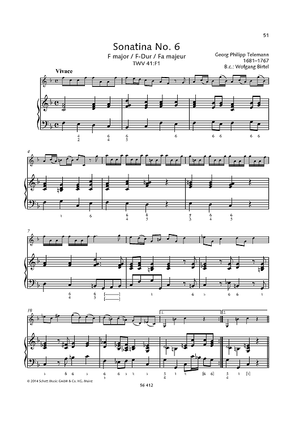 Sonatina No. 6 F major TWV 41:F1
