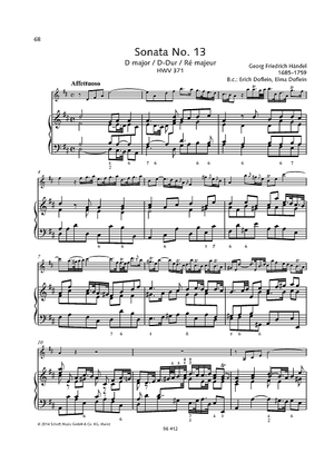 Sonata No. 13 D major