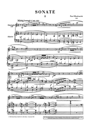 Sonata for Clarinet in Bb and Piano