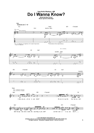 Do I Wanna Know? | Sheet Music Now