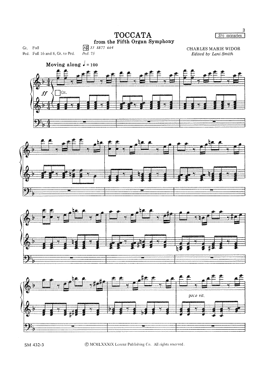 Tocatta From The Fifth Organ Symphony
