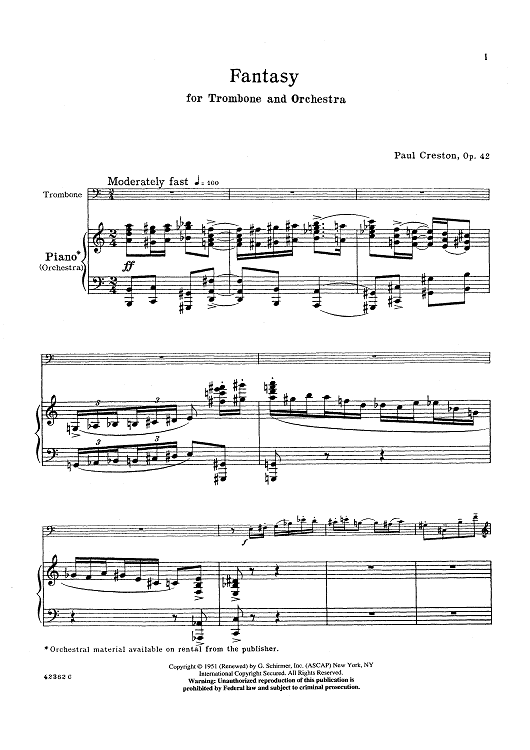 Fantasy for Trombone and Orchestra, Op. 42