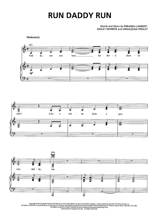 Run Daddy Run | Sheet Music Now
