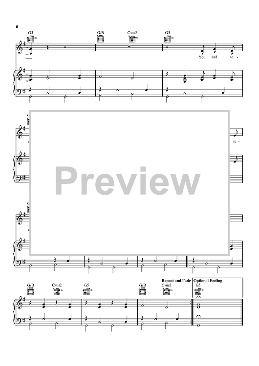 You And Tequila | Sheet Music Now