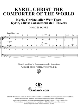 "Kyrie, Christ the Comforter of the World, from ""Seventy-Nine Chorales"", Op. 28, No. 50"