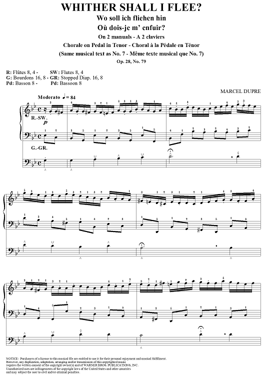 "Whither Shall I Flee?, from ""Seventy-Nine Chorales"", Op. 28, No. 79"