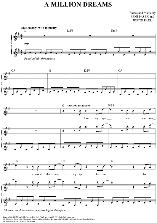 A Million Dreams Piano Sheet Music Free Music Sheet Collection