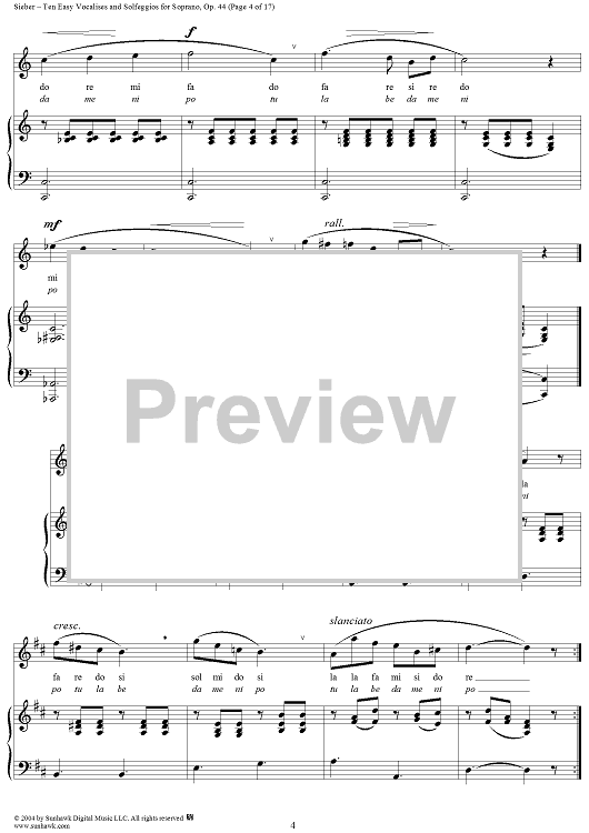 Ten Easy Vocalises and Solfeggios for Tenor, Op. 47