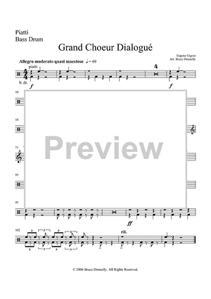 Grand Choeur Dialogué - Percussion - Percussion